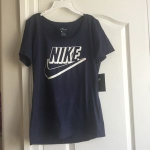 NWT Nike Navy Blue Top